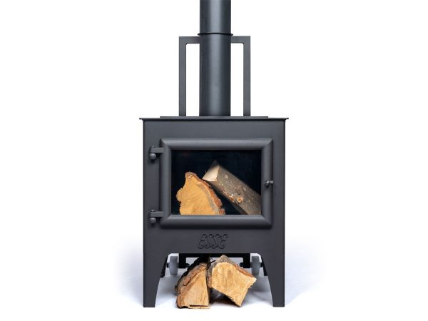 Esse Outdoor Stoves Front View With Logs