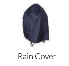 Blue rain cover for bbq