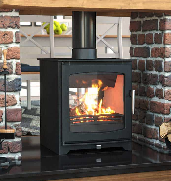 double sided stove red brick wood burner stove