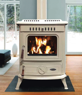 cream enamel boiler stove multifuel lighting in living room