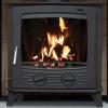 Multifuel Stove Boiler matt black with fire lighting