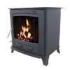 Multi fuel Stove Boiler Matt Black