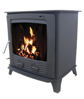 Multi fuel Stove Boiler Matt Black