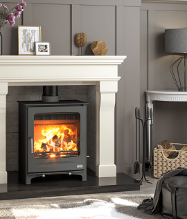 boiler stove in fireplace wood burning multi fuel