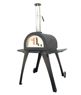 Pizza oven black finish with flue