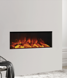 electric fire built into wall